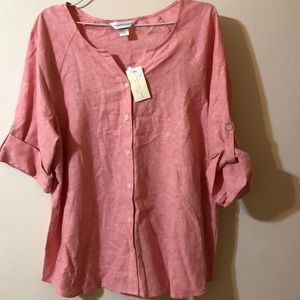 Christopher & Banks Linen Shirt NWT